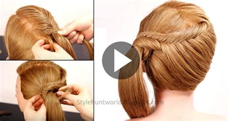 Easy Hairstyles For To Learn by Learn How To Make Simple And Easy Fishtail Braid