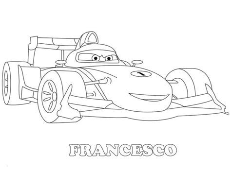 Lightning Mcqueen Cars 2 Colouring Print Coloring Pages Cars 2 Coloring Pages Francesco