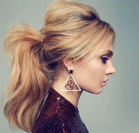 pony tail with fringes back back combed pony tail clothes and beauty pinterest