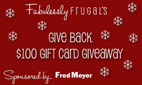 Gift Cards That Give Back - give back gift card giveaway closed fabulessly frugal