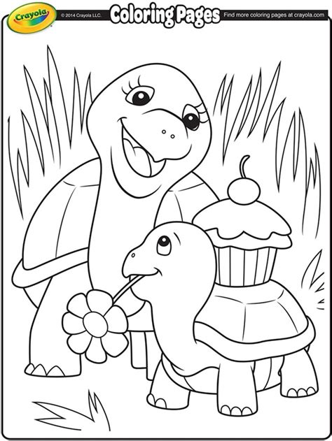 Mother S Day Turtles Crayola Ca Coloring Pages By Crayola