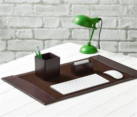 Leather Desk Blotter Set Hostgarcia Desk Blotters And Accessories