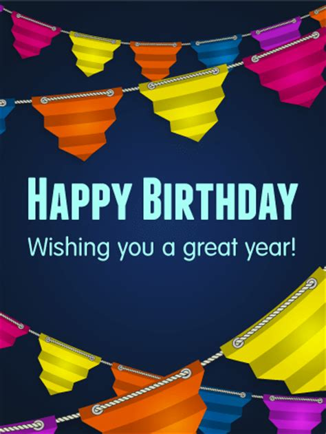 wishing you a great year happy birthday card birthday