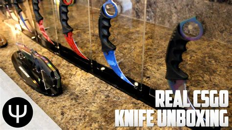 real knives real cs go knife unboxing part 1