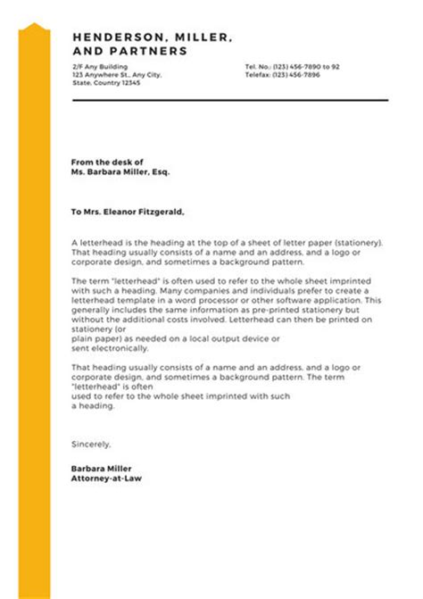 Firm Business Letter Snazzy Corporate Letterhead Templates By Canva