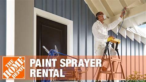 paint sprayer rental  home depot youtube