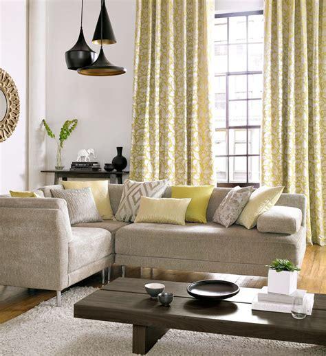 indogate rideaux pour chambre jaune