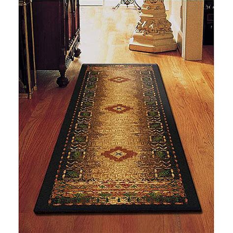 Walmart Rugs Runners by Rustic Lodge Cabin Brown Rust Southwestern Rug Carpet New