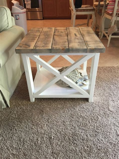 unique rustic end custom rustic farmhouse end by thewoodmarket on etsy
