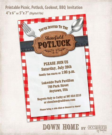 9 potluck email invitation template design templates