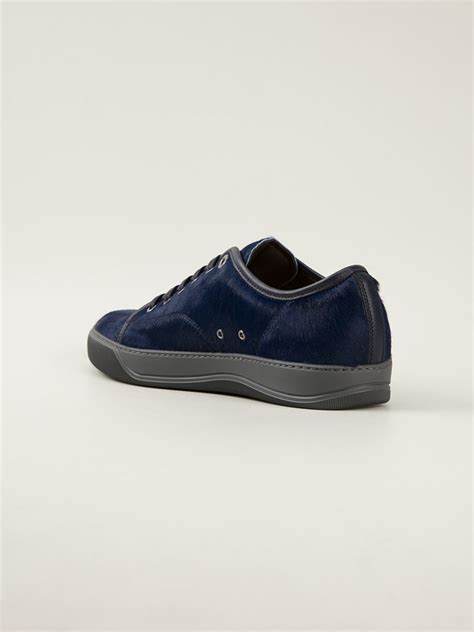 blue lanvin sneakers lanvin lace up sneakers in blue for lyst