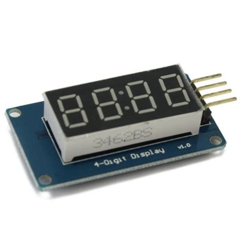 tm1637 based 4 bits digital led display module for arduino