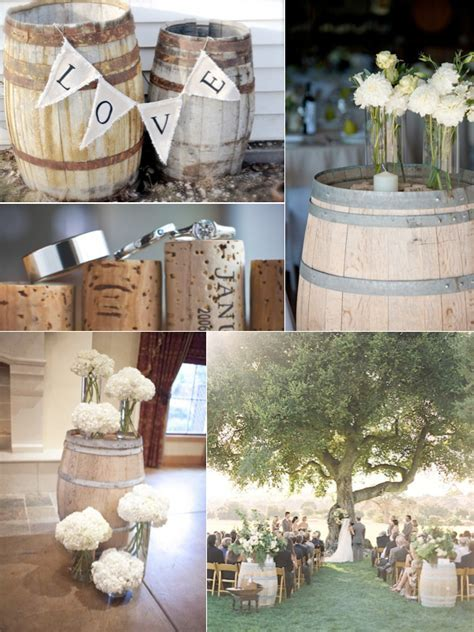 Wine Barrel Wedding Decor   Weddings By Lilly