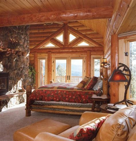 log home bedrooms bedroom in a rustic log home cabin fever is a good