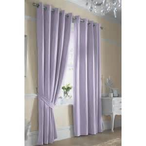ella lined ring top curtains pair finished in lilac