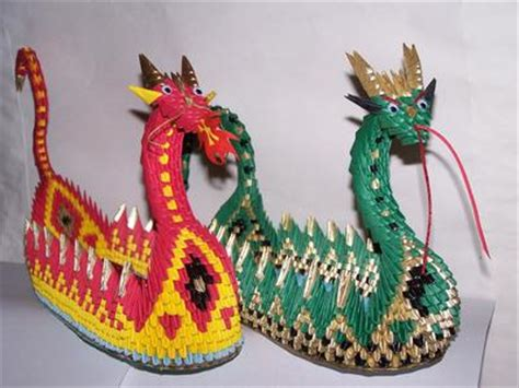 3d origami dragon boat - Origami Dragon Boat Instructions