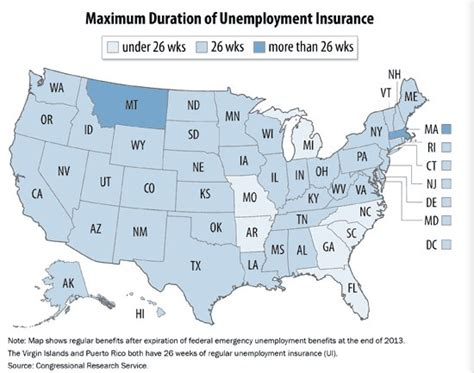 a to z list of state unemployment insurance offices and here s how long unemployment benefits now last in each
