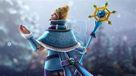 dota 2 rylai wallpaper rylai s drifting snowflakes hq wallpaper dota 2 wallpapers