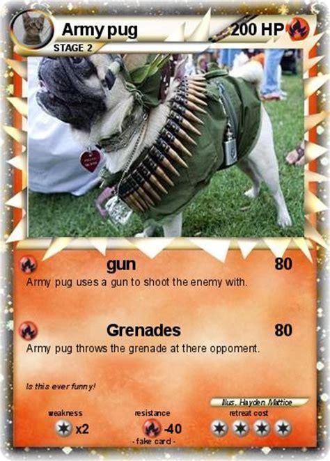 pug gun pok 233 mon army pug gun my card