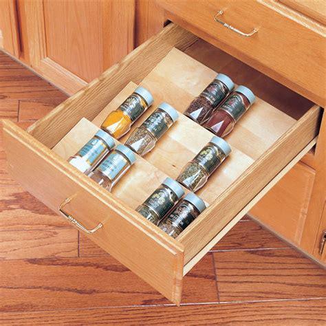 Spice Racks   Wood Spice Kitchen Drawer Insert by Rev A
