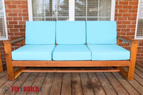 build couch how to build a diy modern outdoor sofa fixthisbuildthat