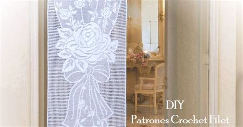 cortinas de ganchillo patrones gratis cortina de lujo tejida en crochet filet patrones para