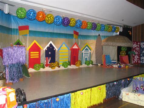 kindergarten themes ideas the stage beach theme year 6 farewell ideas