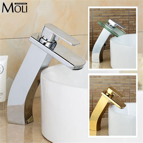 bathroom fixture finishes soild copper chrome finish tall bathroom faucet golden