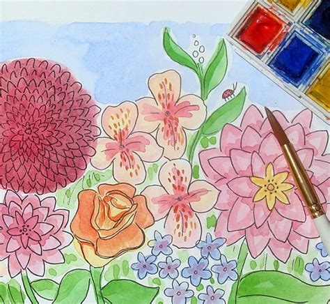 how to draw a garden with flowers how to draw a garden with flowers 28 images items
