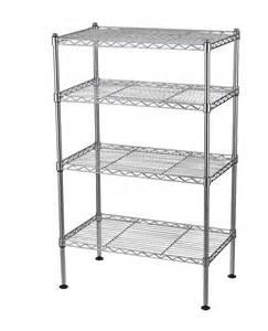 metal shelf rack storage organizer garage office wire