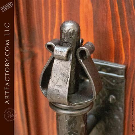 medieval dungeon door handle hand forged  master