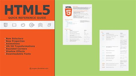 html quick design html5 quick reference guide by purgeru on deviantart