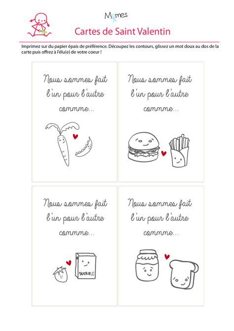 Cartes De Valentin by Carte Valentin On Est Fait L Un Pour L Autre
