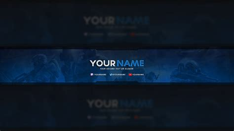 free youtube banner template photoshop youtube
