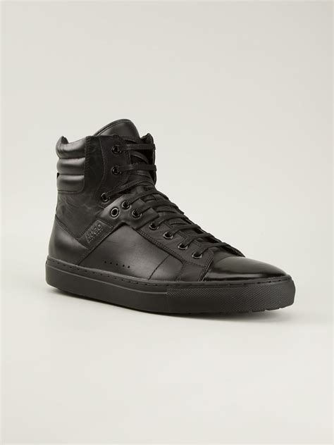 hugo high top sneakers hugo redon hi top sneakers in black for lyst