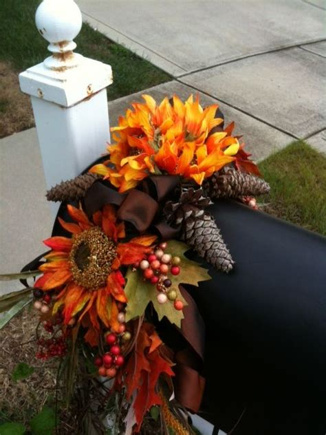 mailbox decorations for fall fall mailbox swag and fall mailbox decor on
