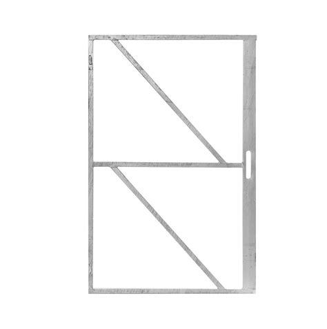 tuin hek metaal 30 cm hoog ijzeren deurframe met slotkast 100 cm breed metaal poort frame