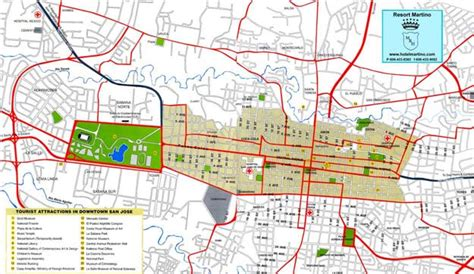 san jose costa rica nightlife map map of san jose tourist travel map