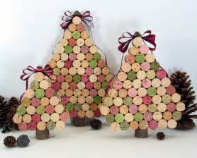 recycled wine cork christmas trees the alternative consumer