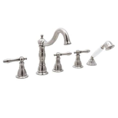 glacier bay lyndhurst bathroom faucet glacier bay lyndhurst 2 handle deck mount roman tub faucet with handheld shower in