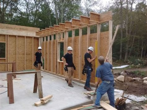 garage wall framing gable homebuilding