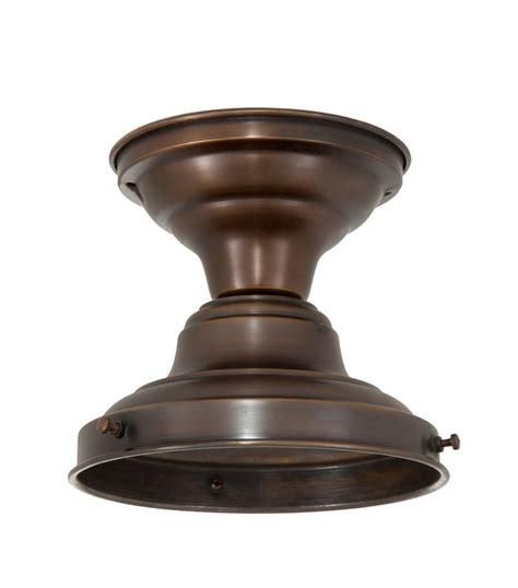 antique brass schoolhouse light schoolhouse flush fixture 6 quot fitter antique bronze