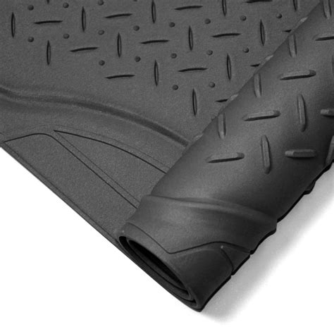 Cargo Rubber Floor Mat by 4pc Set All Weather Heavy Duty Rubber Black Suv Floor