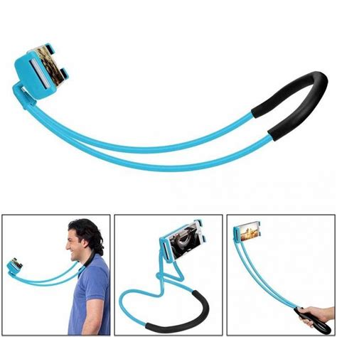 Neck Mobile Stand hanging on neck cell phone mount holder universal mobile