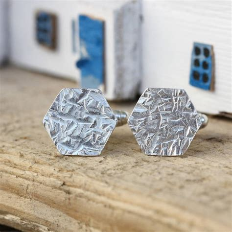 Handmade Silver Cufflinks - handmade silver hammered cufflinks by jemima lumley