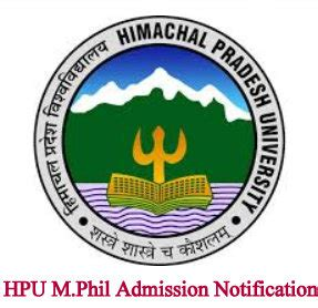 Hpu Mba Entrance Syllabus by Hpu M Phil Admission Notification Entrancetest19 In