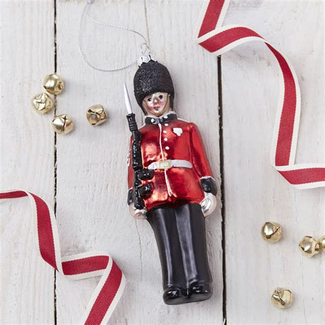 glass soldier christmas tree decoration by the christmas