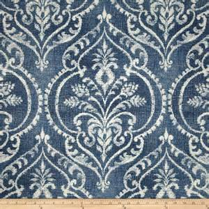 damask drapery fabric swavelle mill creek dalusio damask denim discount