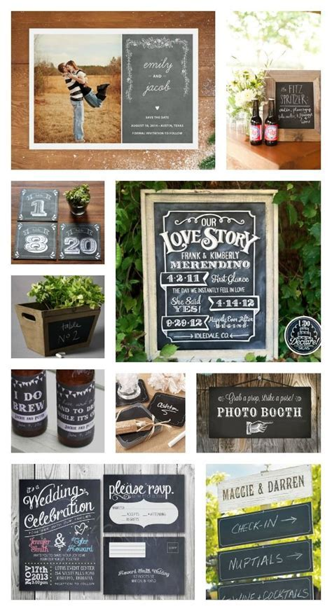 chalk board wedding signs ideas   Rustic Chalkboard