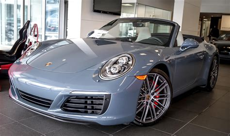 porsche graphite blue interior dealer inventory 2017 911 s graphite blue